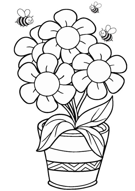 Free Flowers Coloring Page Trail Of Colors
