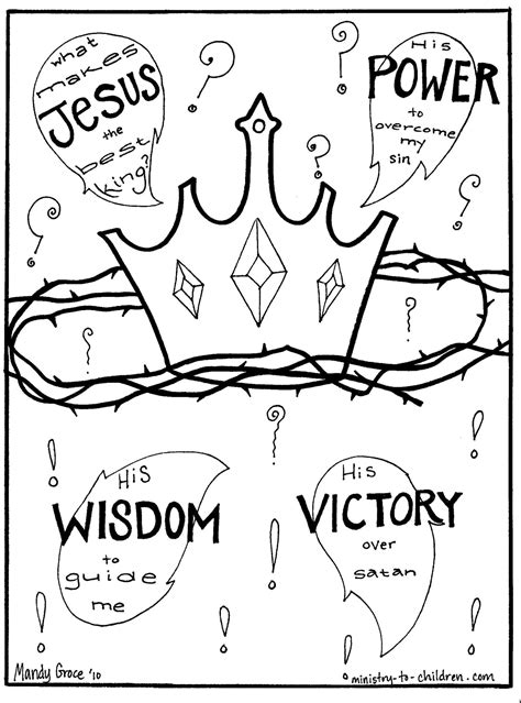 Free Gospel Coloring Book Jesus is King