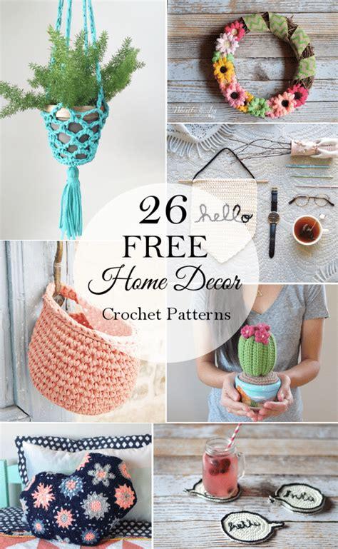 Free Home Decor Crochet Patterns Free Crochet Patterns