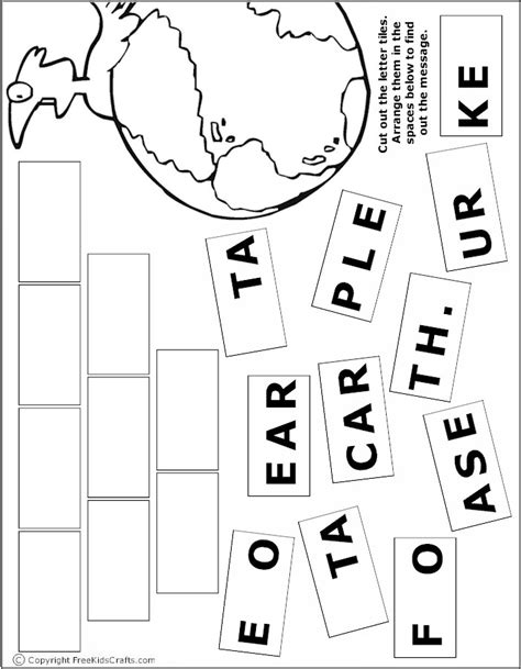 Free Kids Earth Day Games Activities Puzzles and Coloring