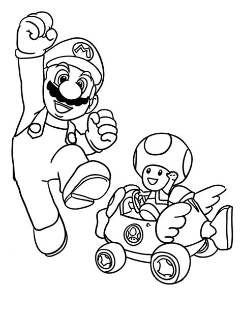 Free Mario Bros Online Coloring Pages