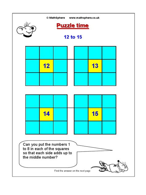 Printables Puzzle Time Math Worksheets puzzle time math worksheets images free maths puzzles mathsphere