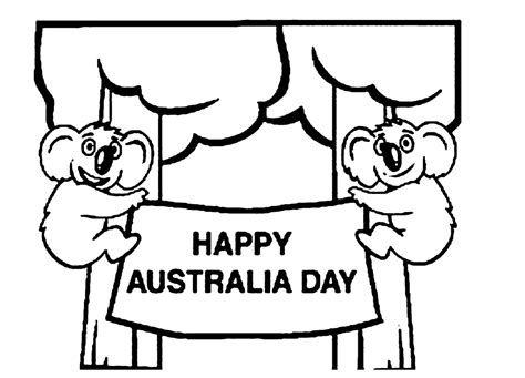 Free Online Australia Day Colouring Page