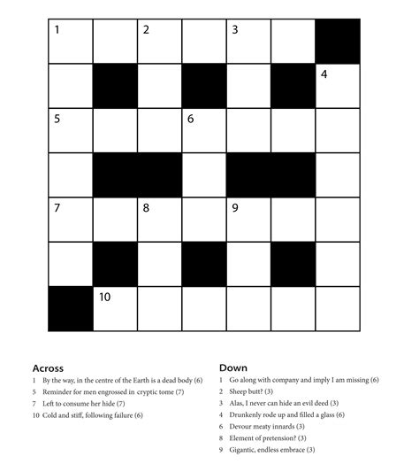 Free Online Kids Crossword Puzzle Easy For Beginners
