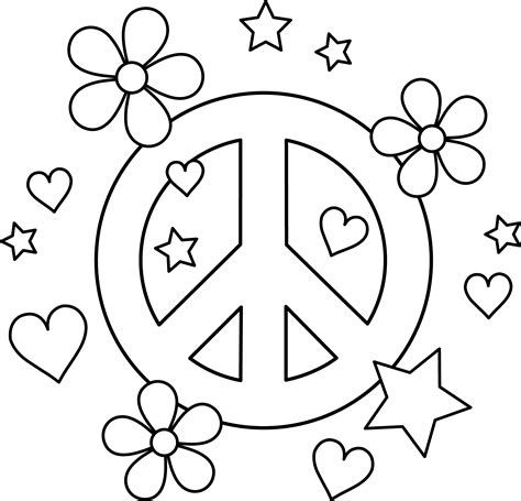 Free Peace Coloring Pages Printable