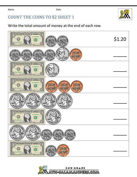 Free Worksheets » Softschools Counting Money Worksheets - Free ...