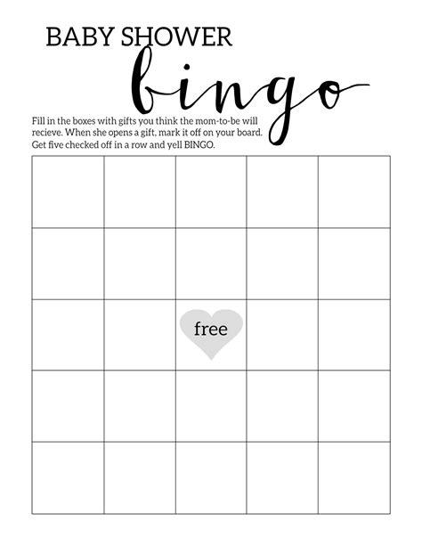 Free Printable Baby Shower Games Baby bingo