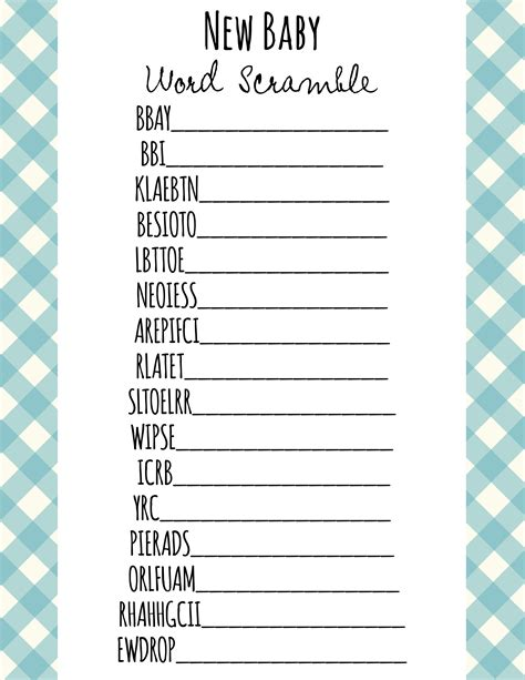 Free Printable Baby Shower Games Frugal Fanatic