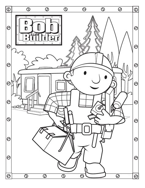 Free Printable Bob The Builder Coloring Pages For Kids