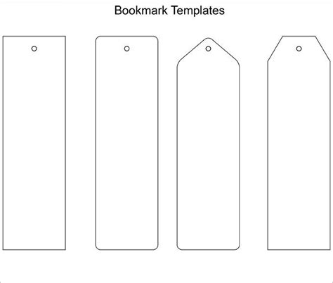 Free Printable Bookmark Blanks coloringcastle