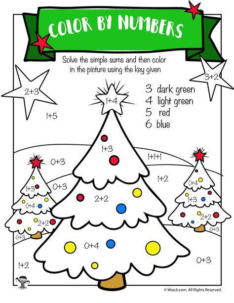 Free Printable Christmas Math Worksheets Pre K 1st Grade