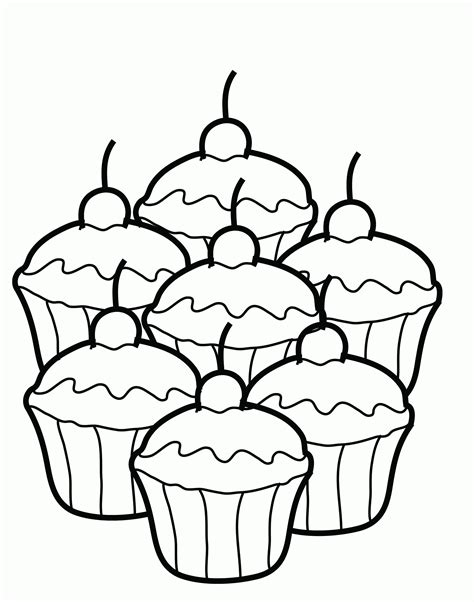 Free Printable Cupcake Coloring Pages For Kids Pinterest