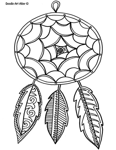 Free Printable Dream Catcher Coloring Page The Graphics