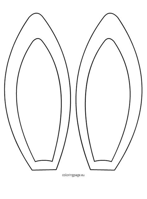 Free Printable Easter Bunny Ears