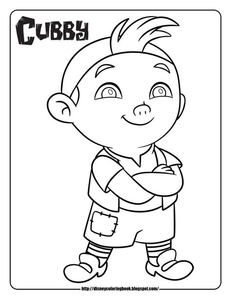 Free Printable Jake and the Never Land Pirates Coloring