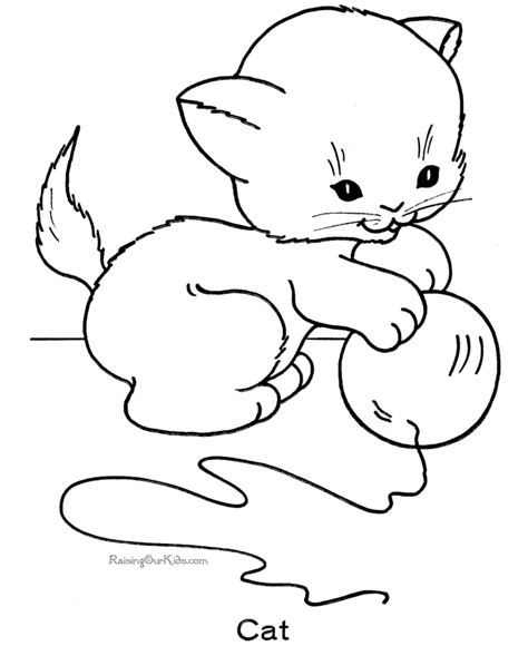 Free Printable Kitten Coloring Pages 002