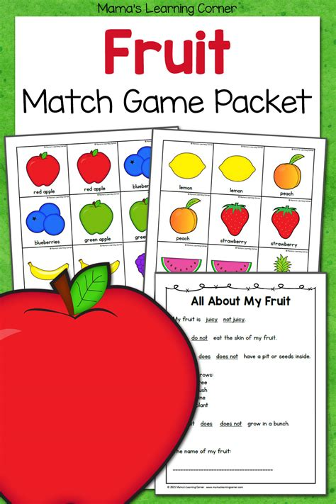 Free Printable Match Game Packet Mamas Learning Corner