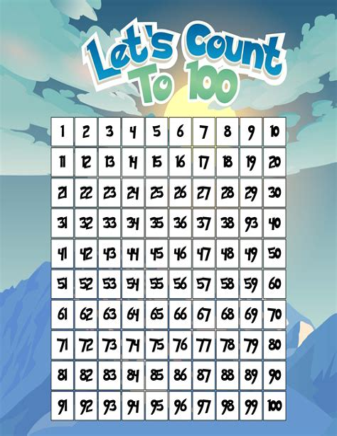 Free Printable Numbers Charts Printable Numbers Org