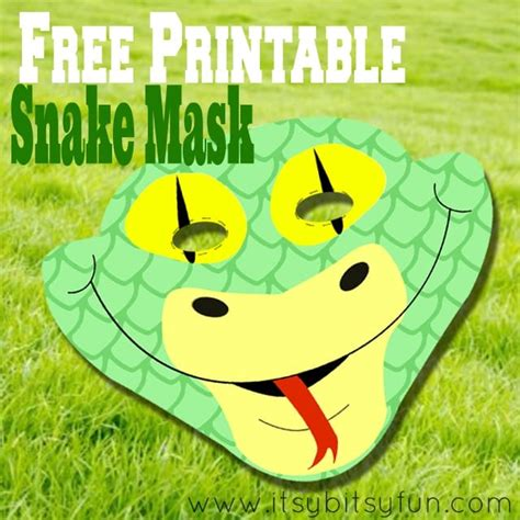 Free Printable Snake Mask Template Itsy Bitsy Fun