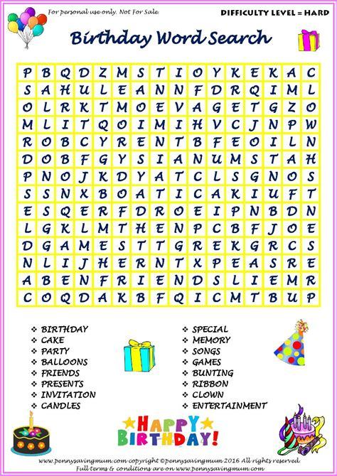 Free Printable Word Searches For Kids Word Puzzles for Kids