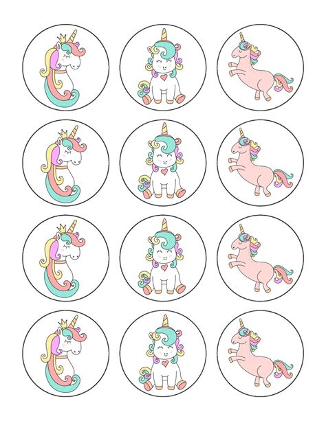 Free Printables parties Circles and Cupcake Toppers