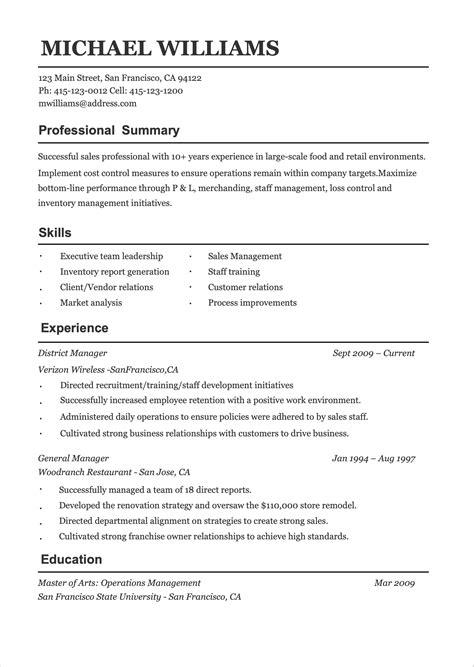 Free Resume Examples Resume Resource Website