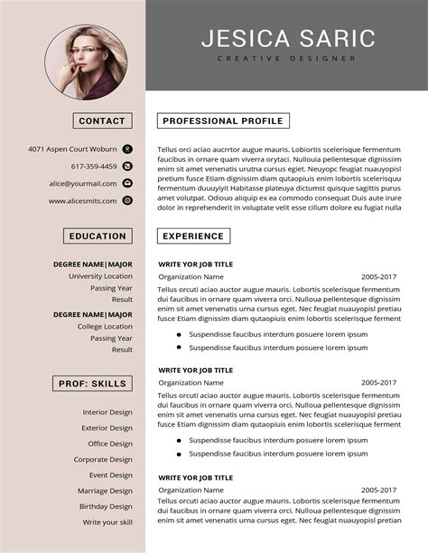 Free Resume Templates Microsoft Word Download Links