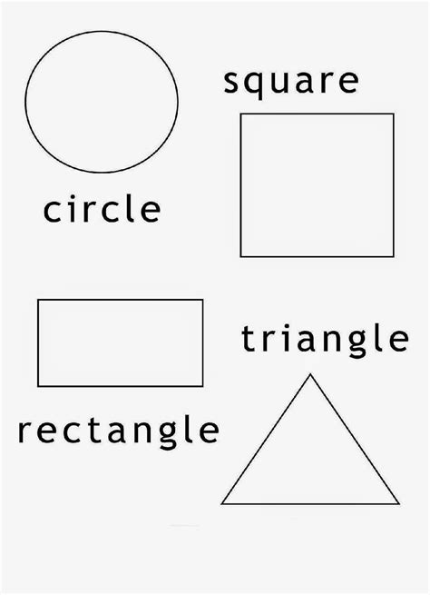 Free Shapes coloring pages Educational coloring pages for kids