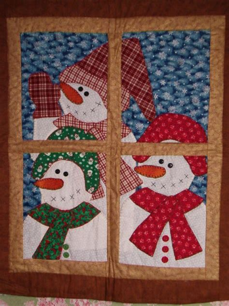 Free Snowman and Christmas Quilt Patterns