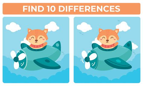 Free Spot the Difference Puzzles