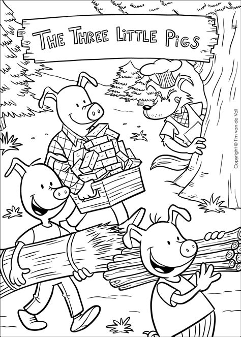 Free Three Little Pigs Online Coloring Pages