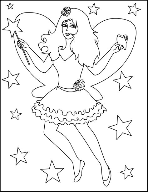 Free Tooth Fairy Letters Coloring Pages