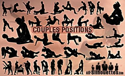 Free Vector Couples Positions All Silhouettes