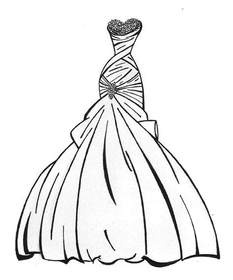 Free Wedding Coloring Page Book Booklet Elite Dresses