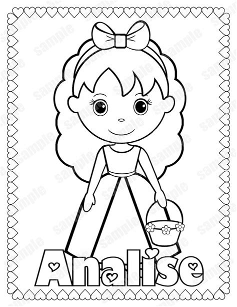 Free Wedding Coloring Page Book Booklet for Flower Girl
