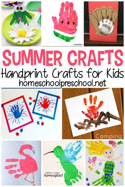 Free activities and craft ideas for kids Hand Print Poem