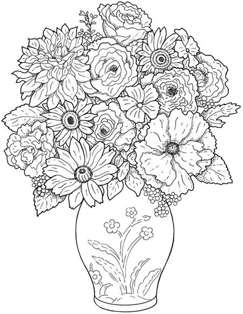 Free flower coloring pages from theKidzpage