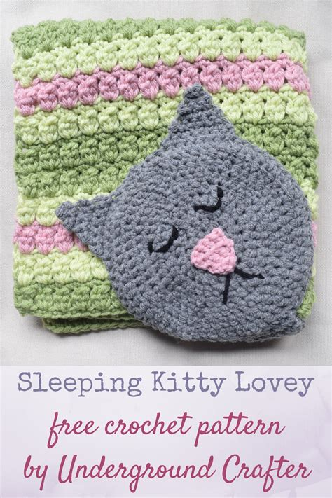 Free pattern Sleeping Kitty Lovey Underground Crafter