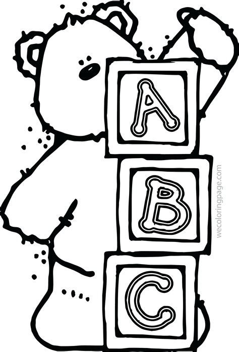 Free printable abc coloring sheets for a baby shower