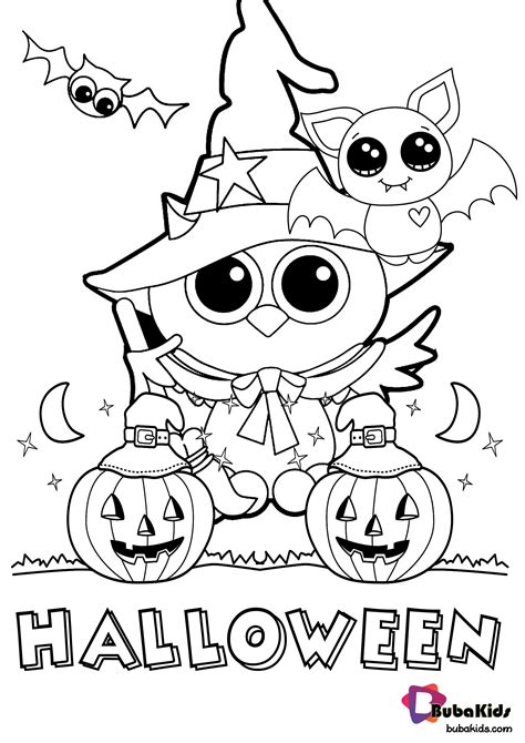 Free printable halloween coloring page