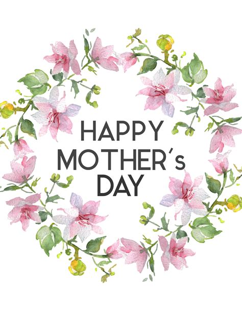 Free printable mothers day activities free greeting cards
