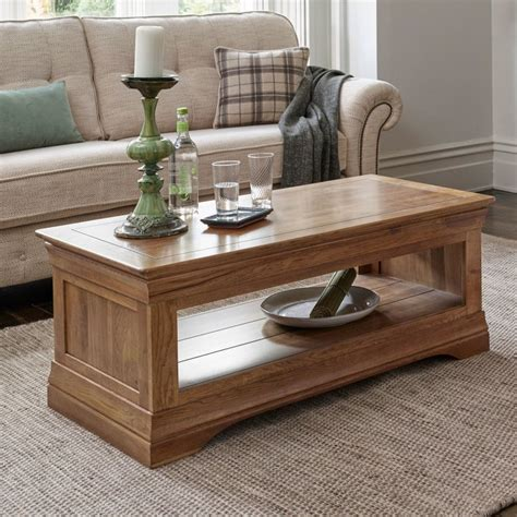 French Farmhouse Rustic Solid Oak Coffee Table Free Delivery