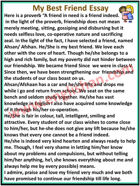 My friend character essay