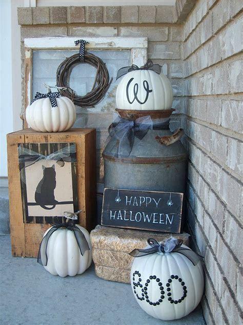 Front Porch Halloween Decorating Ideas The Garden Glove