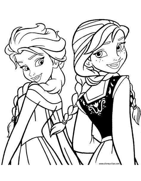 Frozen Coloring Pages Disney Printables Free and