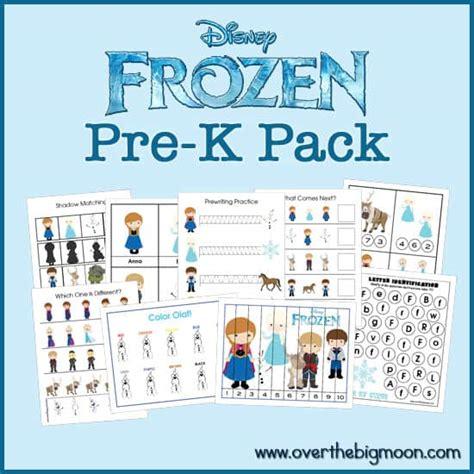 Frozen Pre K Pack Over The Big Moon