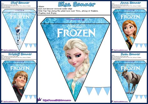 Frozen Pretty Free Printable Bunting Is it for PARTIES