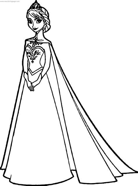 Frozen Queen Elsa coloring page