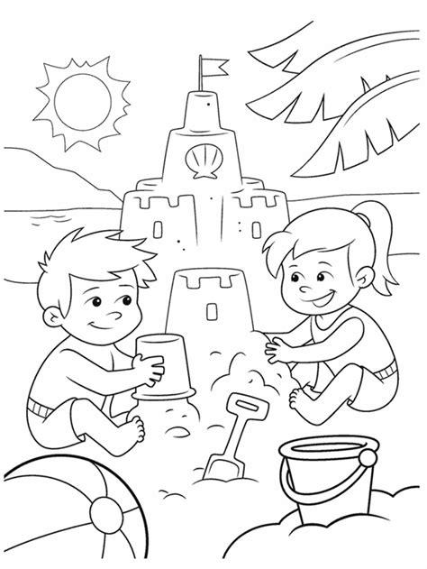 Fun at the Beach Coloring Page crayola