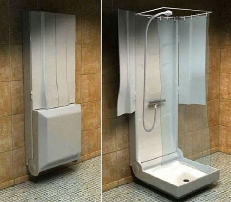 Functional folding shower for small bathrooms Homedit